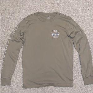American Eagle Tan Long Sleeve T-Shirt